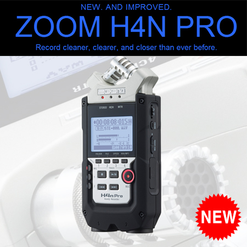 ZOOM H4n pro black/밴드,합창,다이렉트인코딩